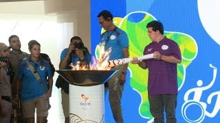 The Paralympic torch arrives in Rio de Janeiro