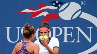 US Open 2016 - Quarter-Finals - Sania Mirza& Barbora Strycova Knocked Out Of Women's Doubles