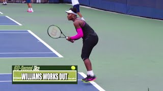 Serena Williams practicing on day off at US Open - September 6, 2016 #USOpen