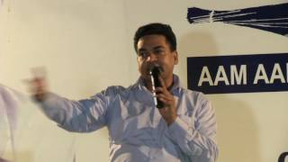 Minister Kapil Mishra addressing during the meeting of minority wing