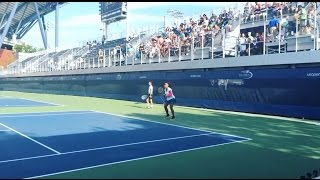 Serena Williams practicing before match against Karolina Pliskova at US Open 2016 - September 8