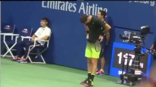 Juan Martin Del Potro, Emocionado en el US Open 2016. Vs Wawrinka