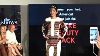 Acid Attack Victim Walks in NY Fashion Week