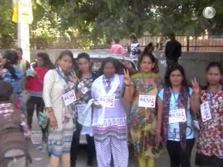 डीयू छात्र संघ चुनाव में छात्रों ने लिया बढ़ चढ़कर भाग