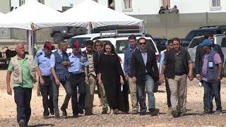 UNHCR envoy Angelina Jolie visits refugee camp in Jordan