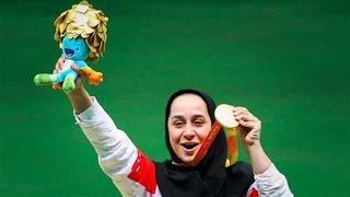 Sareh Javanmardi wins shooting gold medal in Rio Paralympics