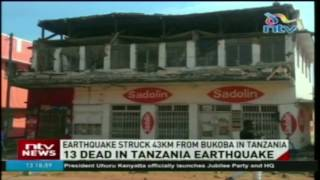 13 dead in Tanzania earthquake