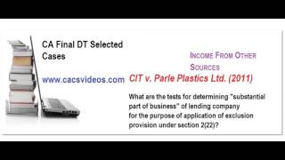 CA final DT selected cases part 8.1 NOV 15 by cacsvideos