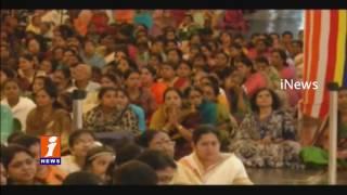 Kerala Devotees Celebrities Onam at Prasanthi Nilayam | Puttaparthi | iNews