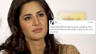 Katrina Kaif Gets Badly Trolled For Receiving The Smita Patil Memorial Award!