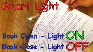 How to make SMART Reading LAMP that AUTO ON/OFF at Home