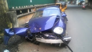 Chennai Porsche Car Live Accident Hit 12 Autorikshaw by drunk student Watch Video