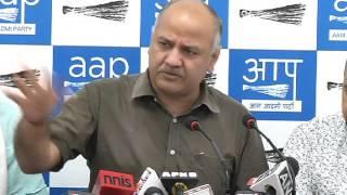 Dy CM Manish Sisodia Briefs Media on AAP MLA Amanatullah Khan and Snoopgate