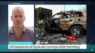 The War In Syria: UN suspends all Syria aid convoys after bombing
