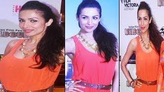 Red Hot Babe Malaika Arora Loose Deep Neck Dress Exposing Hot Neck Line