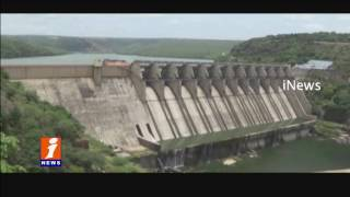 Flood Water Hits Srisailam Dam - Due To Heavy Rains - iNews