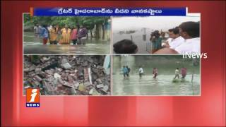 Heavy Traffic Jams in Hyderabad Due To Rains | Rain May Continue Another Two Days | iNews