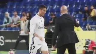 Cristiano Ronaldo Angry Reaction to Substitution - Las Palmas vs Real Madrid 2:2 La Liga