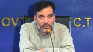 Delhi Labour Minister Gopal Rai Addresses Media on Shaheed Utsav