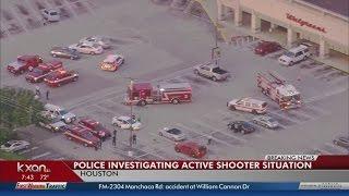 Gunman shot, in custody after Houston shooting