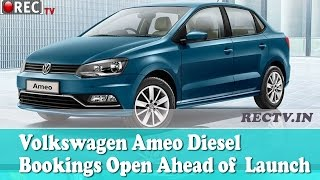 Volkswagen Ameo Diesel Bookings Open Ahead of  Launch - latest automobile news updates