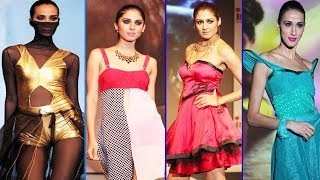 Hot Model With Sexy Amyra Dastur Walk The Ramp @ Vibrance 2013 Fashion Show