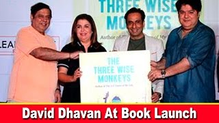 "David Dhawan and Farah Khan At The Funny Book Launch Of ""The Three Wise Monkeys"""