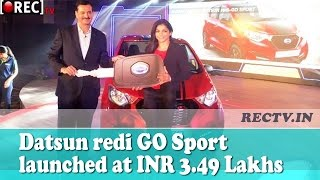 Datsun redi GO Sport launched at INR 3.49 Lakhs - latest automobile news updates