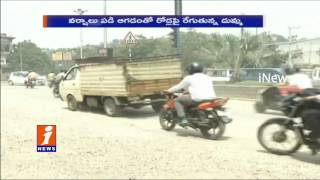 Hyderabad Passengers Facing Problems with Dust on Roads at Manikonda   iNews