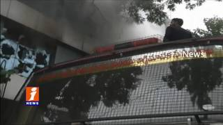 Fire Accident In JRK Building At Road No 12 Banjara Hills | Hyderabad | iNews