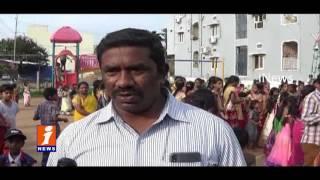 Gowtham Model Schools Celebrate Bathukamma Festival | iNews