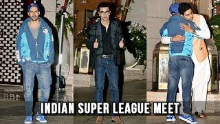 Ranbir Kapoor, Varun Dhawan, Abhishek Bachchan Meet Nita Ambani - ISL Meet 2016