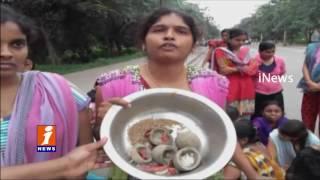 Hyderabad Osmania University Girl Students Stage Agitation against Food | iNews