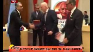 Paris agreement : India becomes 62nd Nation to ratify the agreement