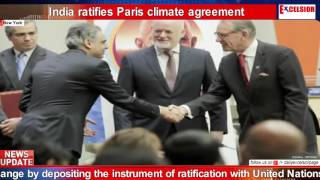India ratifies Paris climate agreement
