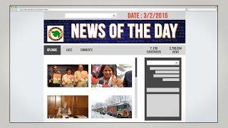 English News of the Day-3-2-2015-Vishwa Gujarat