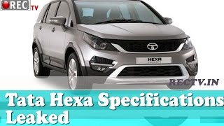 Tata Hexa Features Specifications Leaked - latest automobile news updates