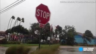 Hurricane Matthew roars into Florida