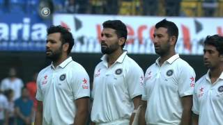 India vs NZ, 2016 - 3rd Test: National Anthem Indore