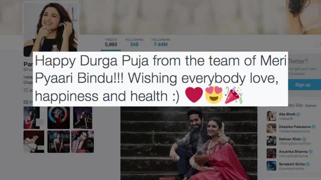 Ayushmann, Parineeti's Memorable Durga Puja Celebration