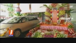 Satya Sai Central Trust Do Pooja For Sai Baba Vehicles  Puttaparthi Prasanthi Nilayam iNews