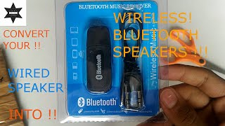 How to convert your Wired Speakers into an Wireless Bluetooth Speakers