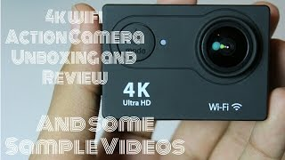 [HINDI] 4k wifi Action camera Unboxing and Review!!