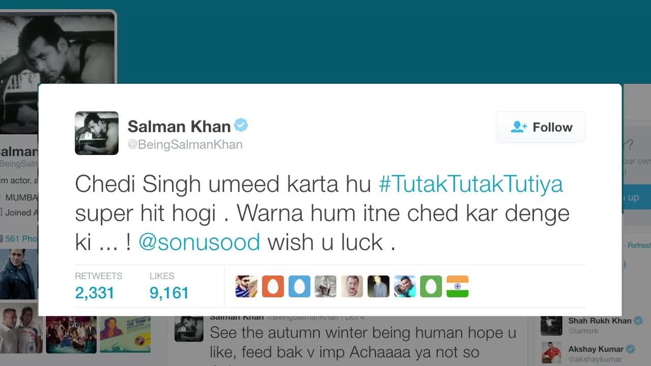 Salman Khan's EPIC REMARK On 'Tutak Tutak Tutiya'