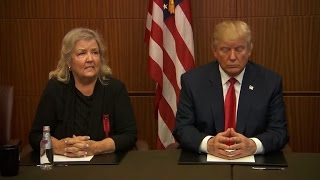 Trump appears with Bill Clinton accusers moments before debate