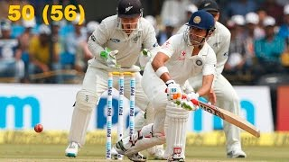Gautam Gambhir 50 in India vs New Zealand 3rd Test Indore Day 4 | Gambhir 50