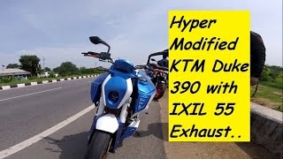 Hyper Modified KTM Duke 390 with IXIL 55 Exhaust. Awesome..