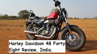 Harley Davidson 48 Forty Eight Review, India, Hyderabad.