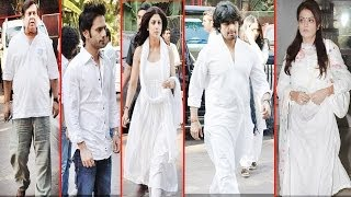 Bollywood Celebs Pay Respect At Sonu Nigam Mother's Prayer Meet