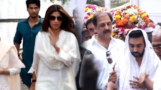 Uncut  Many Celebs Attend Shilpa Shetty's father's funeral